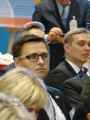 Martin Grządka w czasie spotkania na Giełdzie Papierów Wartościowych