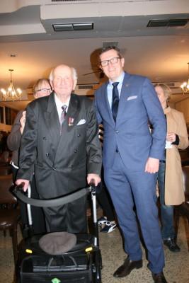 Pan Franciszek Pasławski i Ambasador RP w Ottawie Marcin Bosacki