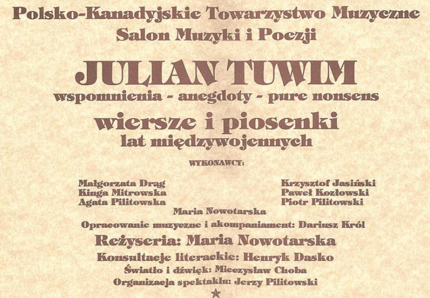 Julian Tuwim Część 2 Gazeta Dziennik Polonii W Kanadzie