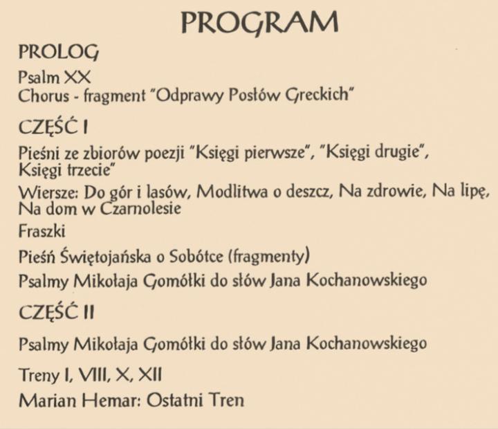Jan Kochanowski I Muzyka Renesansu Część I Gazeta