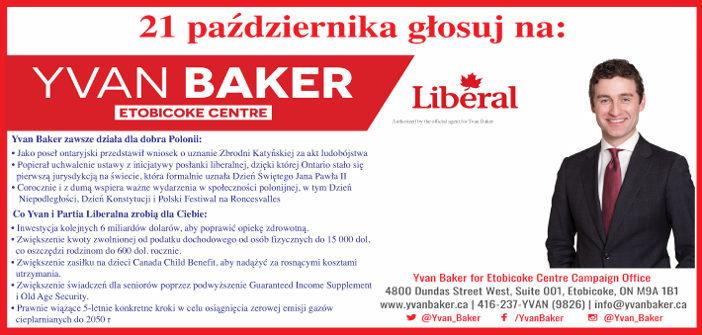 WYBORY: Yvan Baker – kandydat liberalny w Etobicoke Centre