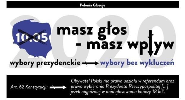 Petycja Polonii o przesunięcie terminu wyborów prezydenckich (po polsku i angielsku)